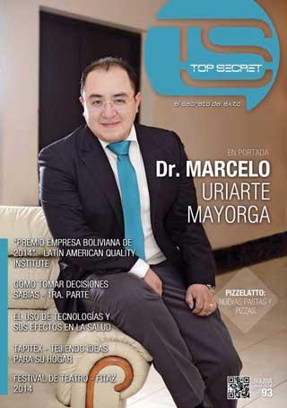 El Dr. Uriarte en la portada de la revista Top Secret